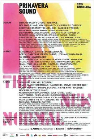 Festival Primavera Sound 2019, en Barcelona
