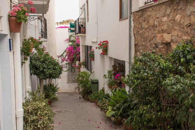 El pueblo blanco de Mojácar, en Almería