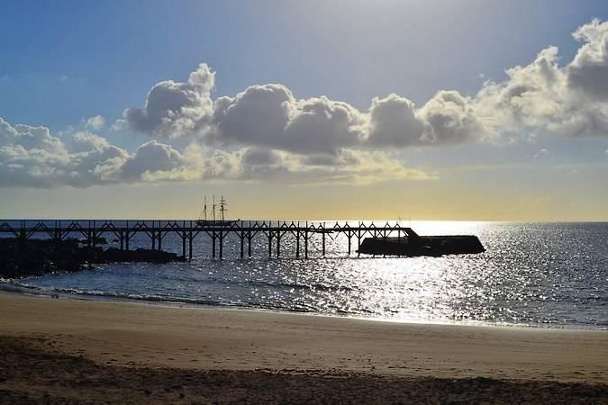 El pueblo costero de Arrieta, en Lanzarote