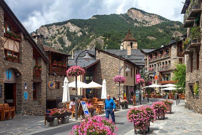 La localidad de Ordino, en Andorra