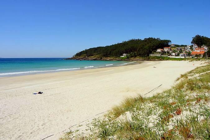 Playa de Canelas, en Portonovo, Pontevedra