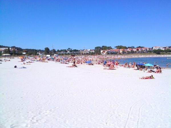 Playa Baltar, en Portonovo, Pontevedra