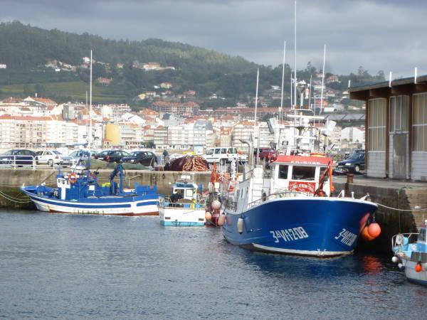 Puerto pesquero de Portonovo, en Pontevedra