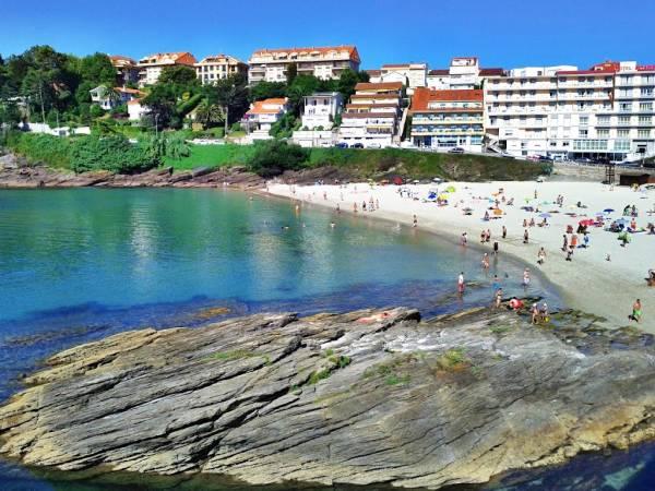 Playa de Caneliñas, en Portonovo, Pontevedra