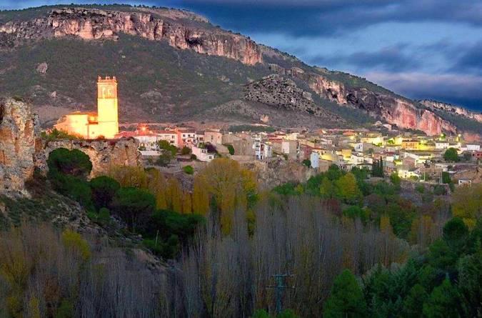 Panorámica de Priego, en Cuenca