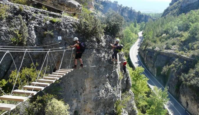 Vía Ferrata de la Hoz de Priego, en Cuenca