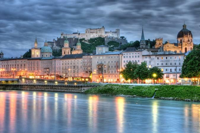 La ciudad de Salzburgo, en Austria