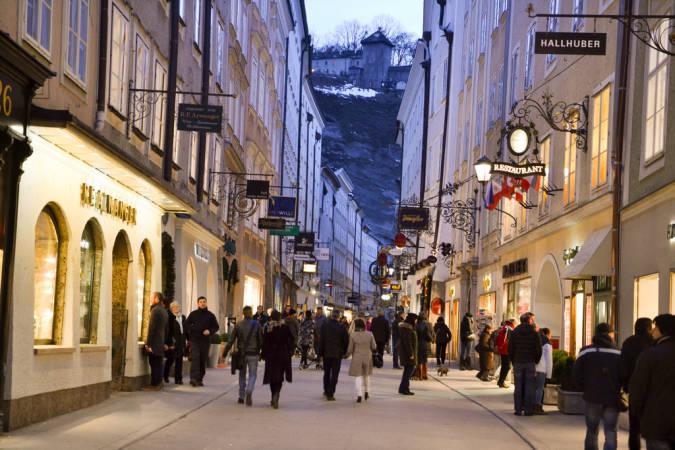 Callejeando por Salzburgo, en Austria