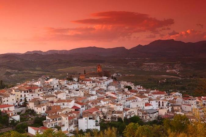 Panorámica del pueblo de Serón, en Almería