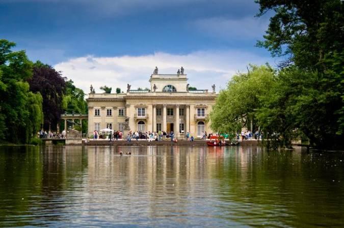 Palacio en el Parque Lazienki, en Varsovia