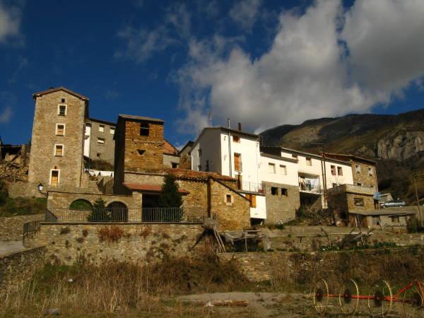 La población de Viu, en Huesca