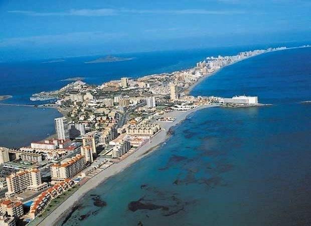 La Manga del Mar Menor, en Murcia