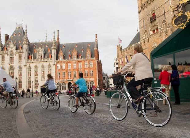Recorriendo Bruselas en bicicleta