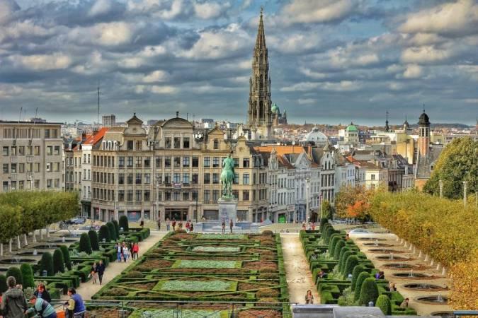 Panorámica de la ciudad de Bruselas, en Bélgica