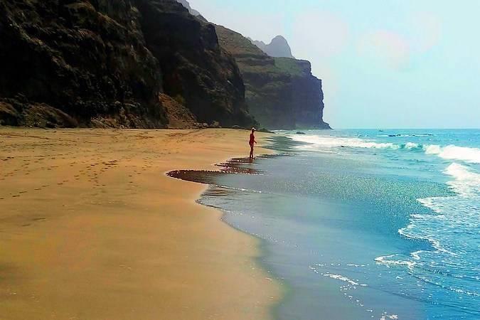 Playa en la Reserva Natural Especial de Güigüi, en Gran Canaria