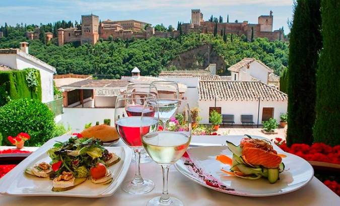 Mejores restaurantes con vistas a la Alhambra de Granada