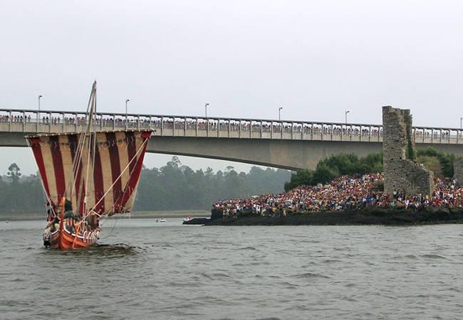 Una romería vikinga en Catoira, Pontevedra