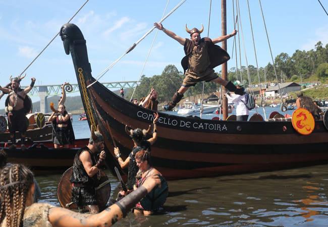 El desembarco vikingo en Catoira