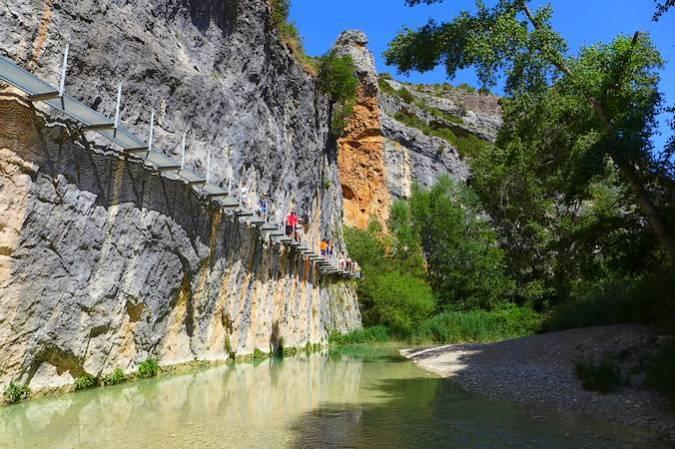 La Ruta de las Pasarelas de Alquézar, en Huesca