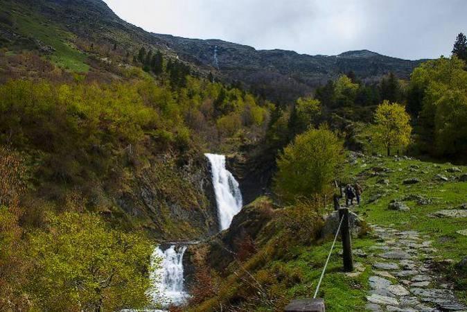 La Cascada del Salto del Pez, en el Valle de Arán
