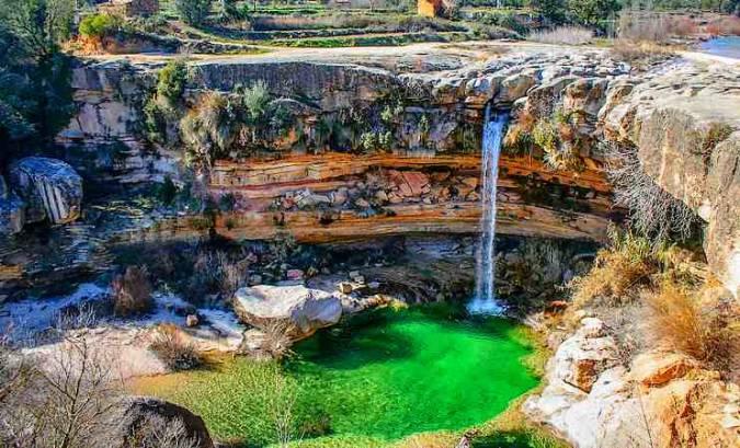 El Salto de la Portellada, en Teruel