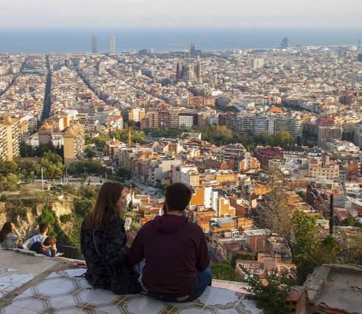 Bunkers del Carmel, en el Turó de la Rovira, en Barcelona