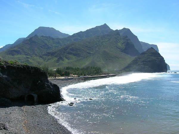 Playa de La Aldea de San Nicolas, en Gran Canaria,Islas Canarias.