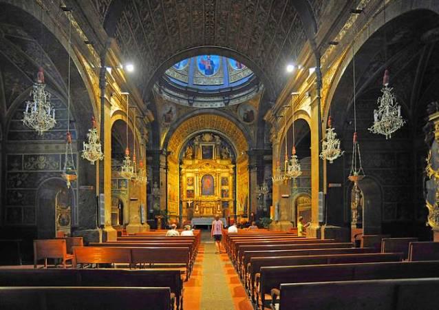 Interior de la Basílica de Lluc, en Mallorca