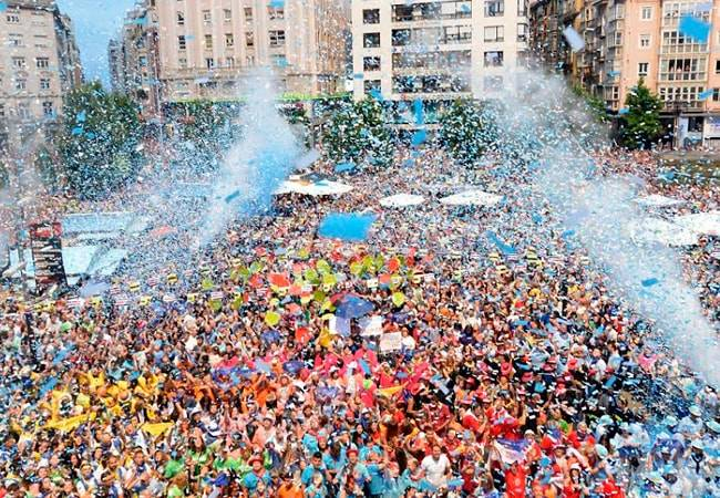 El chupinazo abre las fiestas de Santander