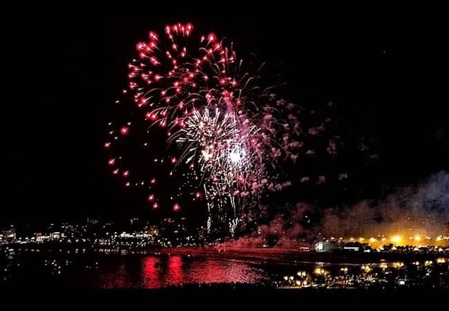 Los fuegos en la Semana Grande de Santander