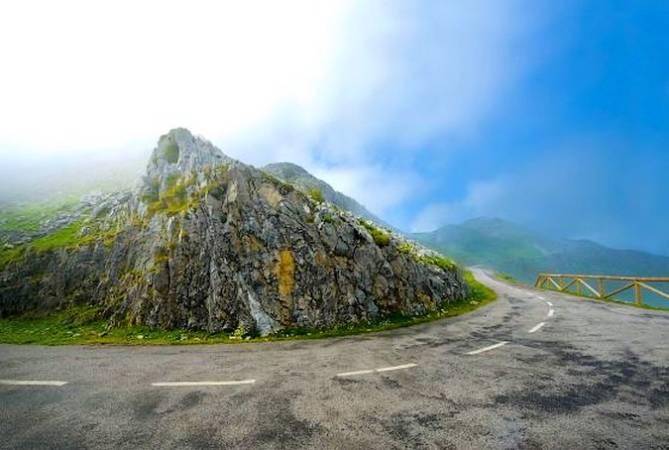 Alto del Angliru, en la sierra del Aramo, Asturias
