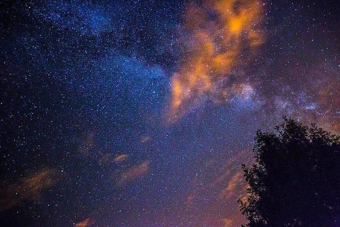 El cielo nocturno en la Sierra de Gredos, en Ávila