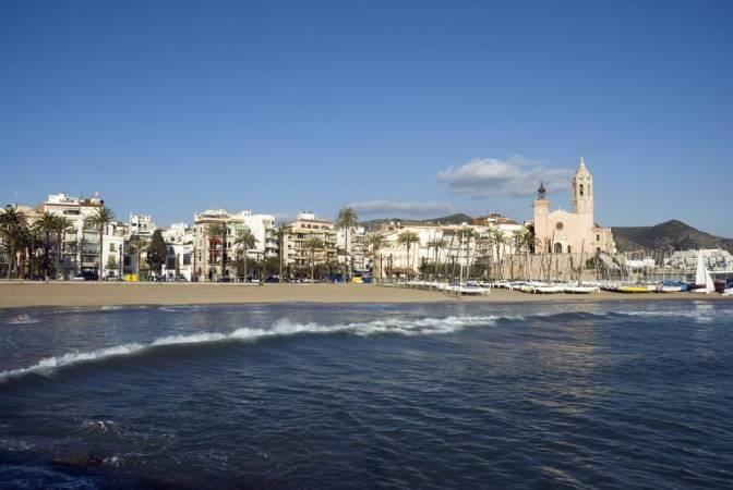 La Playa Fragata, en Sitges, Barcelona