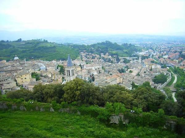 Vista panorámica de Spoleto, en Italia