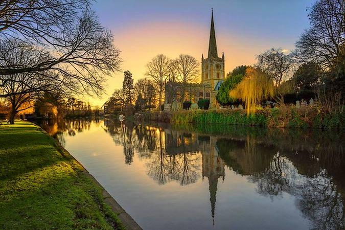 El bello pueblo de Stratford Upon Avon, cuna de Shakespeare
