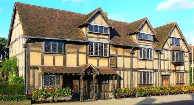 La casa donde Shakespeare en Stratford Upon Avon