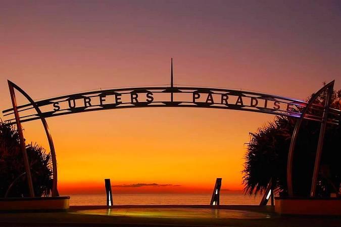 Atardecer en Surfers Paradise, Australia
