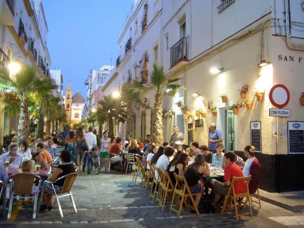 Barrio de la Viña, en Cádiz