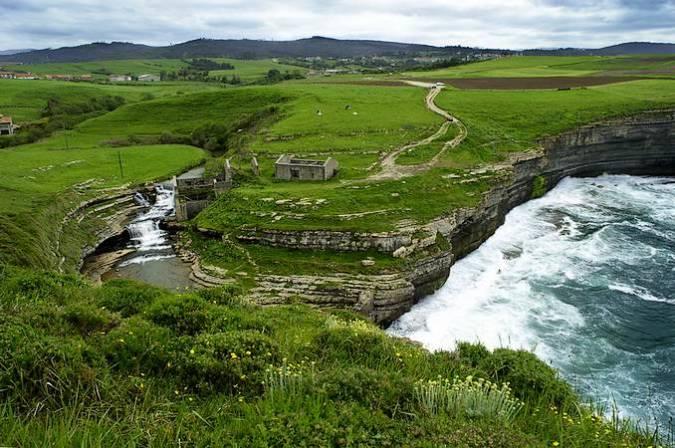 Toñanes y sus acantilados, en Cantabria