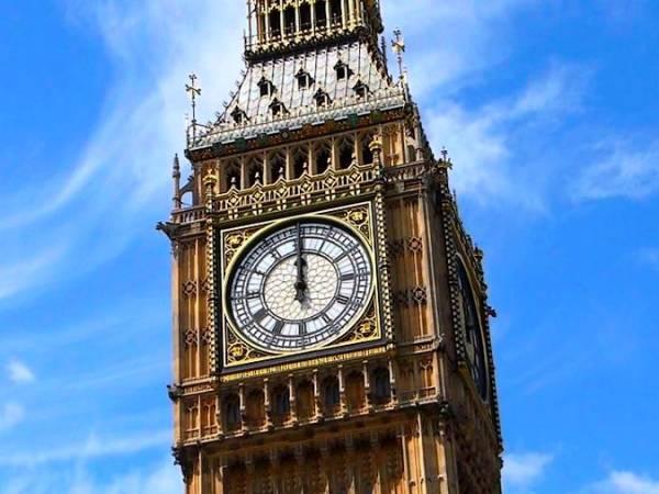 La Torre del Reloj y el Big Ben, en Londres
