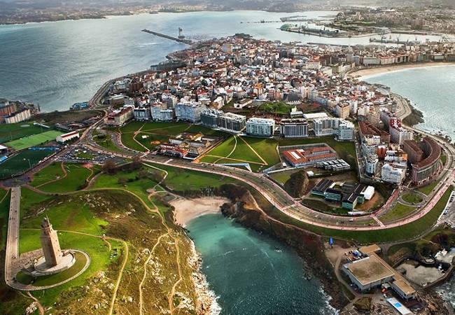 La legendaria Torre de Hércules en A Coruña