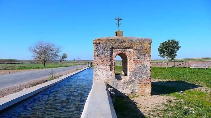 Pilar de la Media Legua, en Trigueros, Huelva