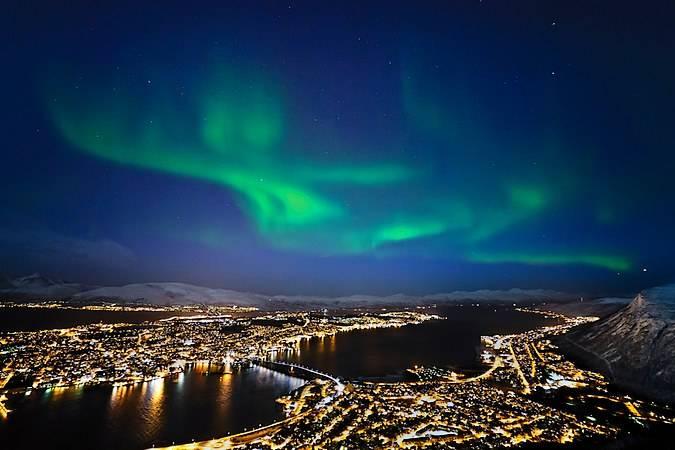 Auroras boreales en Tromso, Noruega