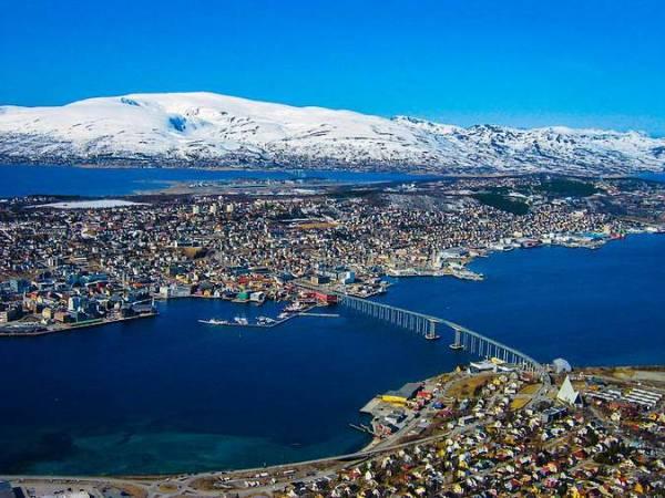 Vista panorámica de Tromso, en Noruega