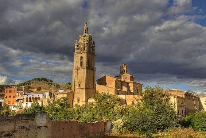 El pueblo navarro de Los Arcos, en el Camino de Santiago