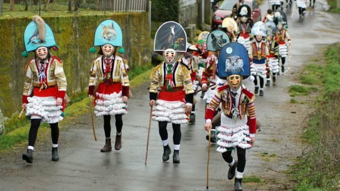 Felos del Carnaval de Maceda, en Ourense
