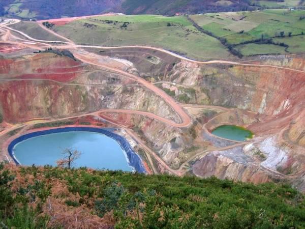 Mina de Oro, en Belmonte de Miranda, Asturias
