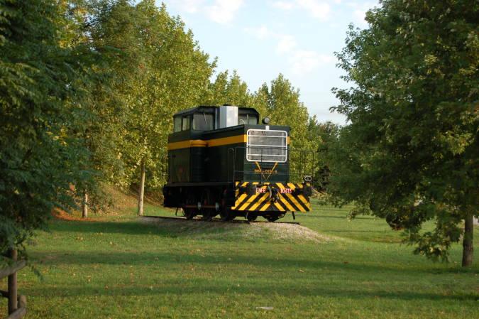 Antigua locomotora en Fornells de la Selva, en Girona