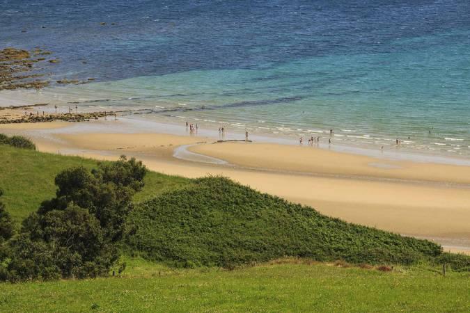 Playa de Oyambre, en Valdáliga, Cantabria