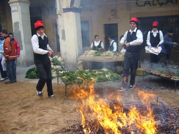 Fiesta de la Calçotada de Valls, en Tarragona